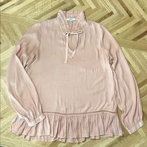 Gorgeous Blush Ro & De Anthropology Blush Blouse